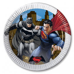 "Тарелки ""Бэтмен и Супермен"", 8 шт"