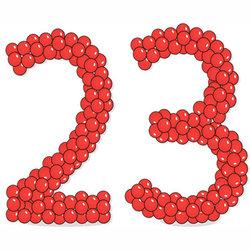 """Цифры из шаров """"23"""". Цена за 2 цифры"""